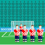 Croatia Soccer Club Penalty on a Stadium Royalty Free Stock Image