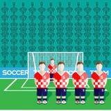 Croatia Soccer Club Penalty on a Stadium Royalty Free Stock Image