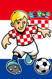 Croatia soccer player with flag background Royalty Free Stock Images