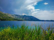Croatia in Spring. Adriatic Sea and mountains stock image