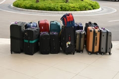 Croatia; suitcases in front of an hotel in Split in Balkan Royalty Free Stock Image