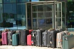 Croatia; suitcases in front of an hotel in Split in Balkan Stock Image