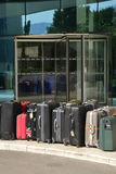 Croatia; suitcases in front of an hotel in Split in Balkan Royalty Free Stock Photos