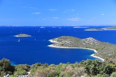 Croatia summer. Croatia - Mediterranean coast landscape in Dalmatia. Kornati islands Royalty Free Stock Photo
