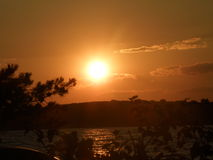 Croatia sunset royalty free stock photography