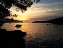 Croatia Sunset stock image