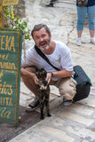 Croatia. tourists and locals cat Royalty Free Stock Images