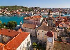 croatia towntrogir Arkivfoton