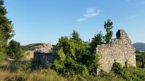 Croatia Udbina-abandoned house royalty free stock photos