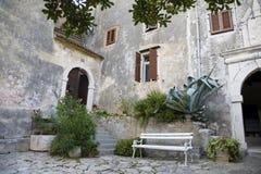 croatia uteplats Arkivbilder