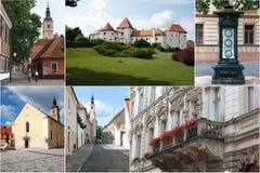 Croatia - Varazdin - collage. Shots of Croatian town Varazdin. Symbols of that city Stock Photo