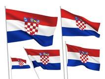 Croatia vector flags Royalty Free Stock Photos