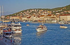 Croatia, view of  Ciovo island fron Trogir waterfront Royalty Free Stock Image