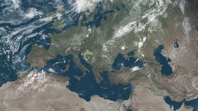 Croatia view from space stock illustration
