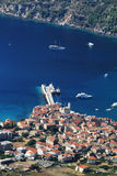 Croatia-vis. Aerial view to the Vis town in Croatia Stock Photo