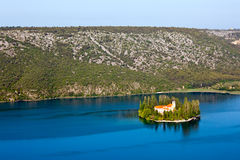 croatia visovac Royaltyfria Bilder
