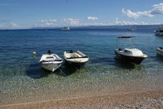 croatia wakacje Morze, Adriatycki, Summe, r łodzie Obraz Royalty Free