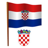 Croatia wavy flag Royalty Free Stock Photography