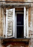 Croatia | window. Old window, shot taken in Rovinj in Croatia Royalty Free Stock Photo