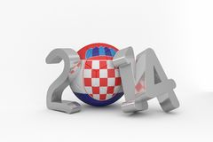 Croatia world cup 2014 message Royalty Free Stock Photography