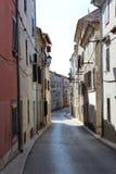 croatia wyspy krk śródziemnomorska stara ulica zdjęcie stock