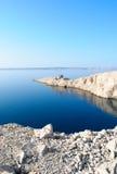 croatia wyspy latarni morskiej pag ruina Zdjęcie Royalty Free
