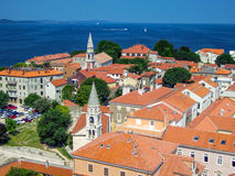 Croatia, Zadar. View of the city from the bell tower Royalty Free Stock Images