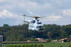 Croatian Air Force and Air Defence Mil Mi-8 Military helicopter stock photo