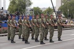 Croatian army parade Stock Photos