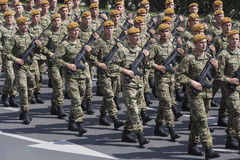 Croatian army parade. In Capital Zagreb celebrating 20 years of the end of the war for the independence 1991-1995 Stock Photo