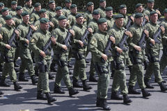 Croatian army parade Stock Images
