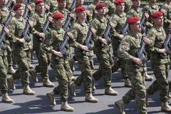 Croatian army parade Royalty Free Stock Photo
