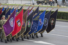 Croatian army parade Royalty Free Stock Images
