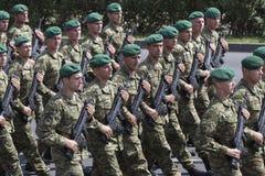 Croatian army parade Stock Photography