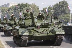 Croatian army parade Royalty Free Stock Image