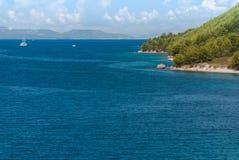 Croatian beach, Makarska Riviera. Photo of Croatian beach, Makarska Riviera, Dalmatia royalty free stock photo