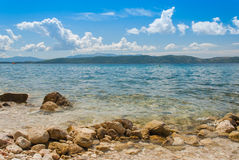 Croatian beach, Makarska Riviera. Photo of Croatian beach, Makarska Riviera, Dalmatia stock photography