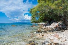 Croatian beach, Makarska Riviera. Photo of Croatian beach, Makarska Riviera, Dalmatia royalty free stock images
