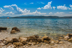 Croatian beach, Makarska Riviera. Photo of Croatian beach, Makarska Riviera, Dalmatia stock photo