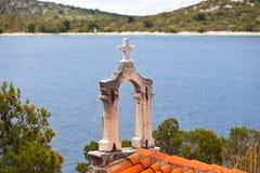Croatian church tower Royalty Free Stock Image