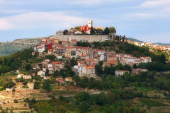 Croatian city on a hill. View over a Croatian city on a hill stock image