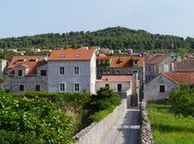 Croatian city Stari Grad in the Mediterranean Stock Photos