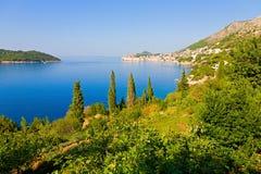 Croatian coast. Beautiful seaside view of the city of Dubrovnik, Croatia Royalty Free Stock Photography