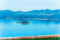 Croatian coastline along the Adriatic Sea Stock Photography