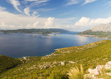 Croatian Coastline and Islands on the Adriatic Sea Royalty Free Stock Photos