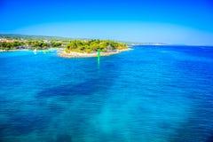 Croatian coastline in summer sunny time. Stock Photos