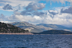 Croatian coastline view from the sea Stock Photo