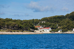 Croatian coastline view from the sea Stock Photos