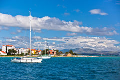 Croatian coastline view from the sea Stock Image