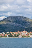 Croatian coastline view from the sea Royalty Free Stock Photography